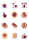 Paraboloïdes et desserts de boissons illustration de vecteur