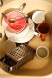 Paraboloïdes modifiés dans le bassin de cuisine photos stock