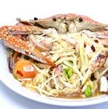Paraboloïdes populaires thaïs, salade épicée de papaye Photos stock