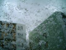 Parabrezza congelato Fotografie Stock Libere da Diritti