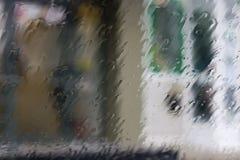 Parabrezza piovuto Immagini Stock