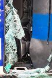 Parabrezza rotto nell'incidente stradale Immagine Stock Libera da Diritti