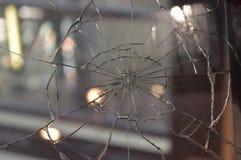 Parabrisas dañado accidente Imagenes de archivo