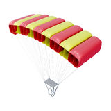 Paracaídas en el fondo blanco 3d rinden los cilindros de image Imagenes de archivo