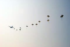 Paracaídas Ginkelse Heide, Ede Foto de archivo