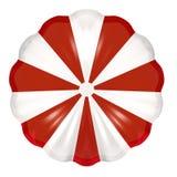 Paracaídas rojo y blanco Fotos de archivo