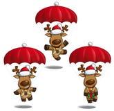 Paracadute degli alci di Christms royalty illustrazione gratis