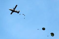 Paracadute di addestramento Fotografia Stock Libera da Diritti