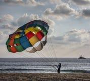 paracadute di colore Fotografia Stock Libera da Diritti