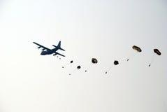 Paracadute Ginkelse Heide, Ede Fotografie Stock Libere da Diritti