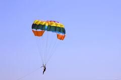 Paracadute sulla spiaggia Immagini Stock