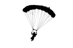 Paracadutista Immagini Stock