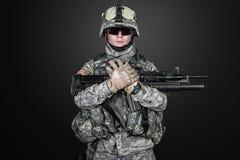 Paracadutista degli Stati Uniti Immagini Stock Libere da Diritti