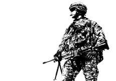 Paracadutista degli Stati Uniti disperso nell'aria immagine stock