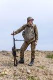 Paracadutista sovietico in Afghanistan fotografia stock libera da diritti