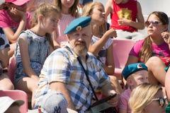 Paracaidista aerotransportado del veterano de Rusia fotografía de archivo libre de regalías