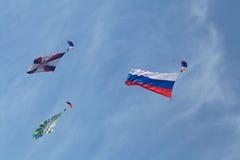Paracaidistas Imágenes de archivo libres de regalías