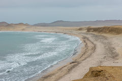 Paracas bay in the peruvian coast at Ica Peru Royalty Free Stock Photography