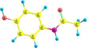 Paracetamol molecular model Royalty Free Stock Images