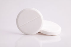 Paracetamol painkiller pills against headache Royalty Free Stock Images