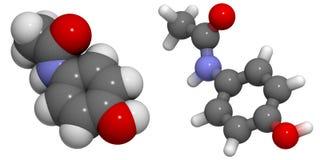 Paracetamolo (acetaminophen) Immagine Stock