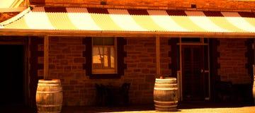Parachilna Pub. Photograph taken featuring the entrance to an outback pub at Parachilna (South Australia stock photos