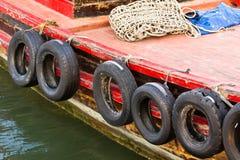 Parachoques del barco de pesca Fotografía de archivo