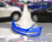 Parachoques delantero del coche en el fondo 3d de la tienda de аuto ilustración del vector