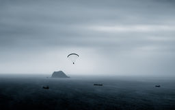 parachutage Photo stock