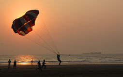 Parachute. Shot in Maharashtra Royalty Free Stock Photography