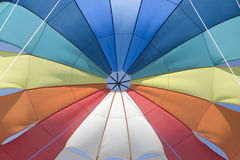 Parachute. A detail of colorful parachute Stock Image