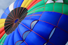Parachute. Close up of a big colorful parachute Stock Image