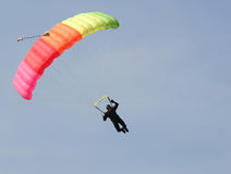 Parachute. An image of bright parachute in the sky Stock Photography