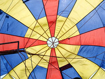 Parachute. Background of colorful open parachute Stock Photography