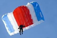 Parachute. Above us on a blue sky Stock Photos