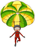parachute Arkivfoton