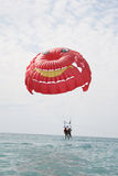 Parachute. Parasailing Parachute a nice watersport on a holiday Stock Photography
