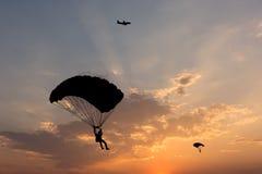 parachute Fotografering för Bildbyråer