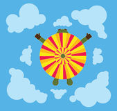 Parachute from above Stock Image
