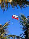 Parachute against blue sky Royalty Free Stock Photography