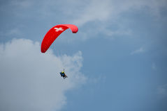 Parachute is in the air. This is a photo of parachute is in the air Stock Image