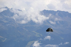 Parachute in the Alps Stock Images