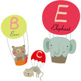Parachute and animals. Illustration of Parachute and the animals Stock Images