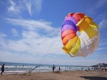 Parachute in the beach. Antalya Manavgat Side Royalty Free Stock Images