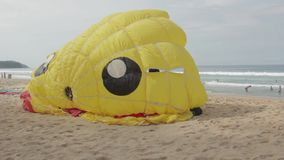 Parachute on the beach stock video footage