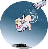 Parachute behandla som ett barn Royaltyfria Bilder