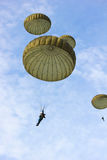 Parachute. In the blue sky Stock Photos