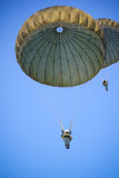 Parachute. In the blue sky Stock Photography