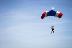 Parachute. In the blue sky Stock Photo