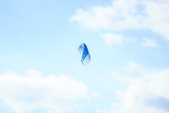 Parachute. Blue sky. Freedom. Stock Photo